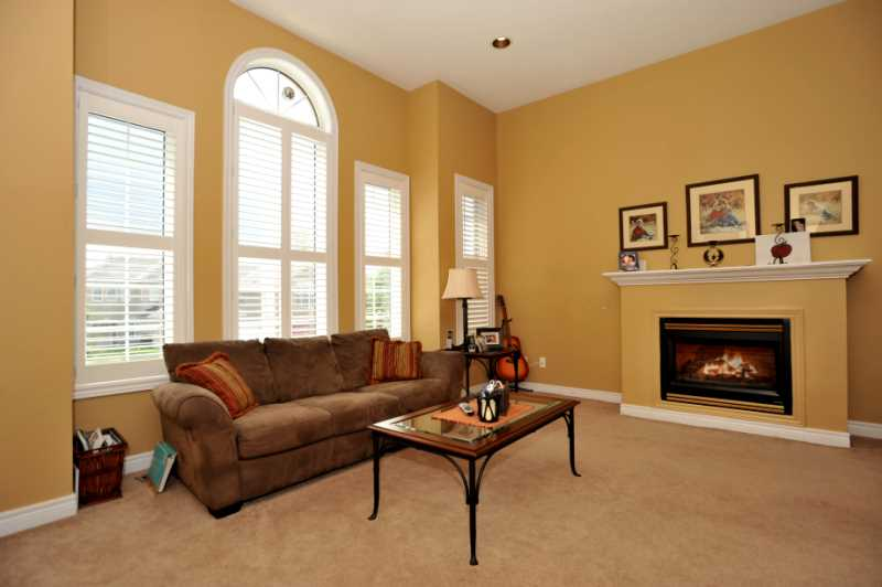 Cathedral Ceilings, Gas Fireplace, California Shutters