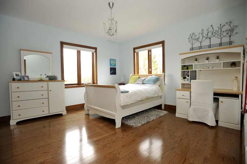 solid wood doors on closets and hardwood flooring