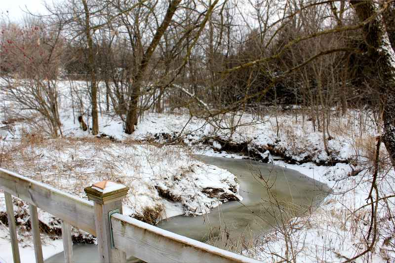 Stream in Winter, bridge