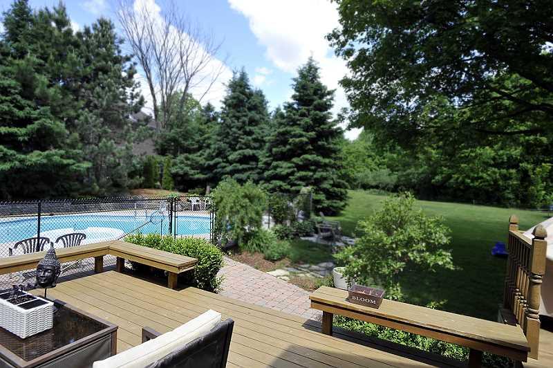 decking, perrenial gardens, mature lot, conservation
