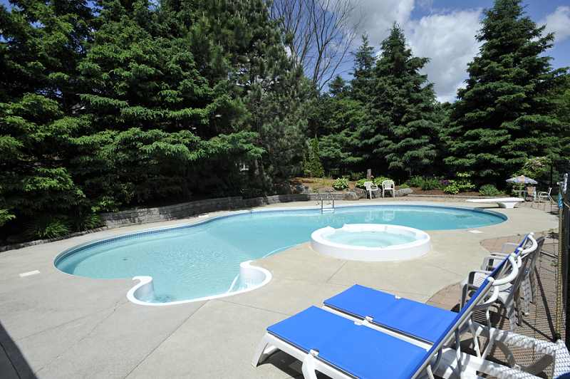 "inground pool privacy mature lot Heated in-ground ""Betz"" pool"
