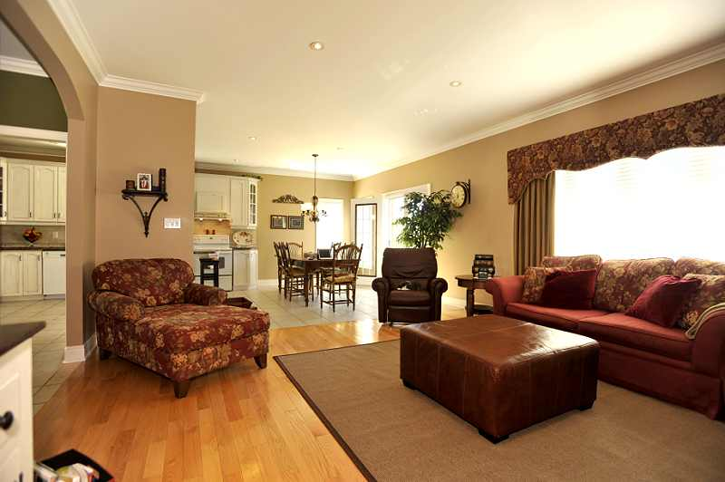 Great Room open concept with the Kitchen