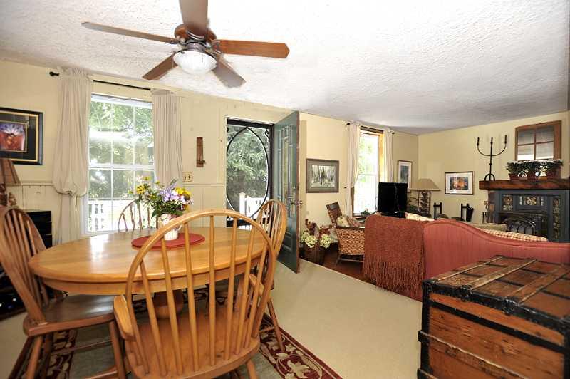 Dining Room has broadloom, overlooks the Living Room