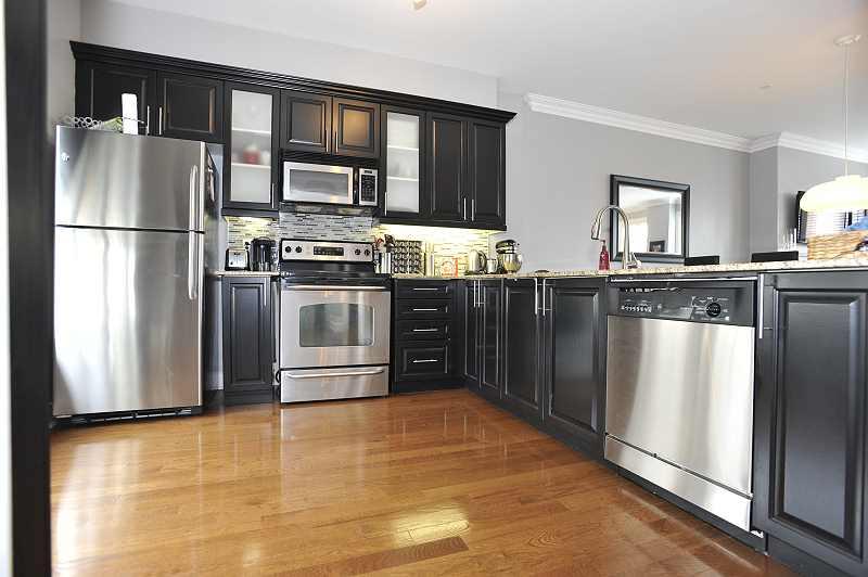 hardwood floors, crown mouldings