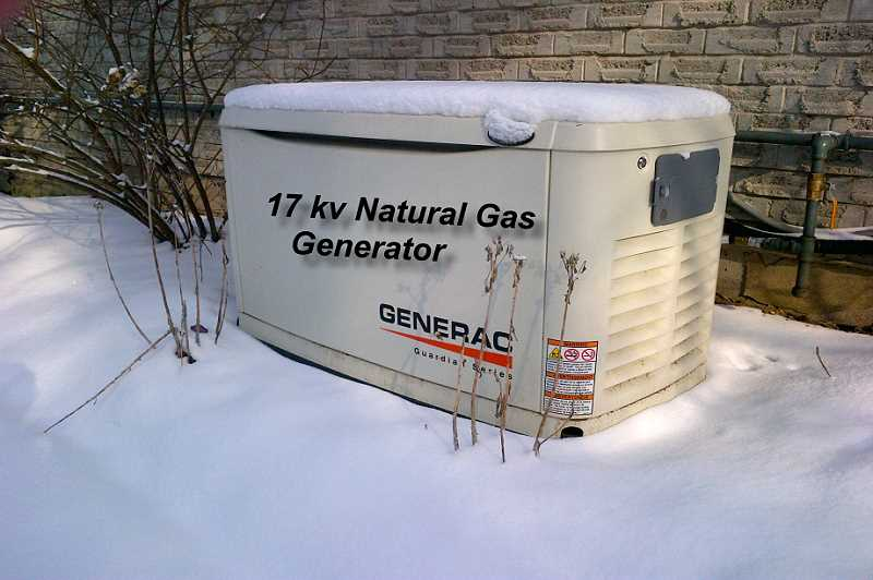 17KW hard-wired generator, natural gas