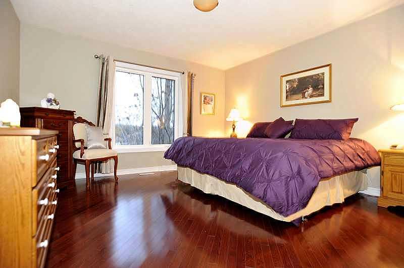 master bedroom, hardwood floors, views