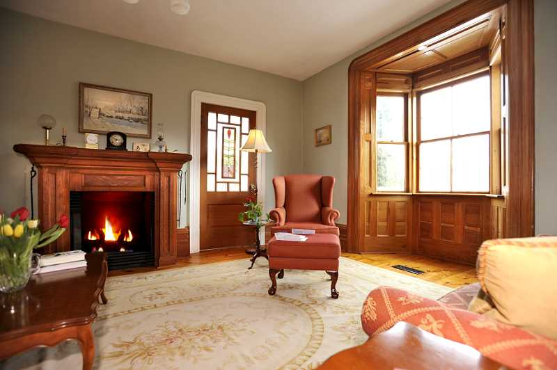 High Baseboards, Gas Fireplace, Bay Window