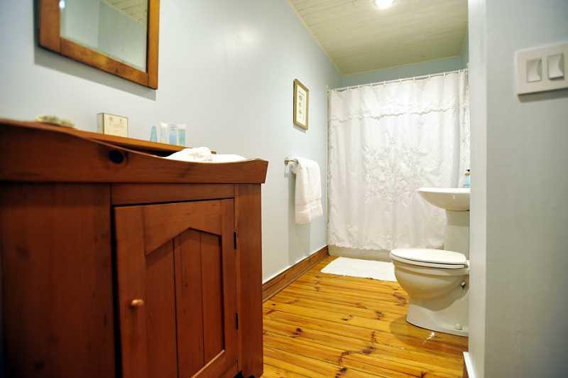 main floor bathroom, 4-piece, plank floors