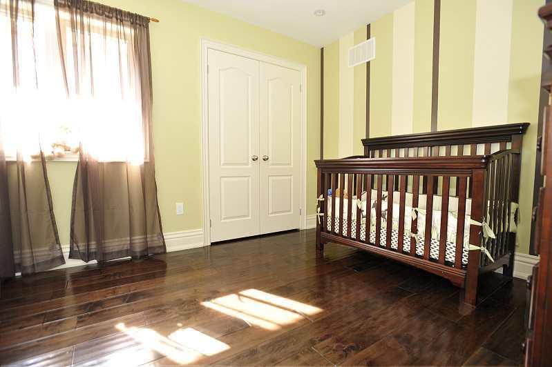bedroom, hardwood floors, double closets