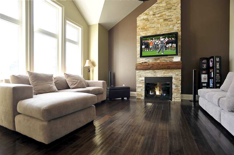 18-foot, floor-to-ceiling, slate stone-faced gas fireplace