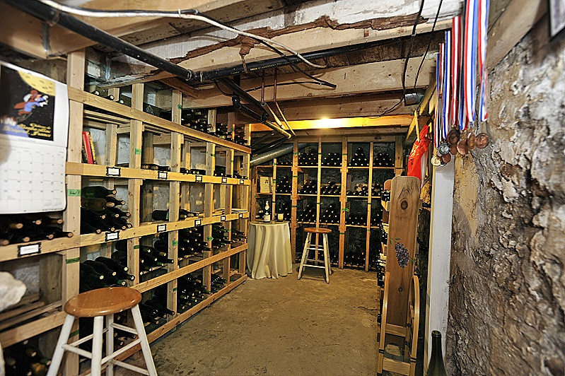 wine cellar, basement