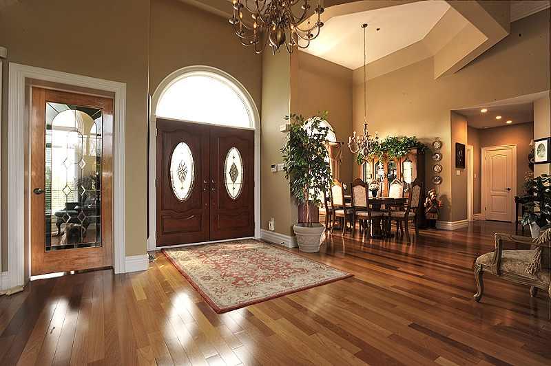 open concept foyer, hardwood floors,
