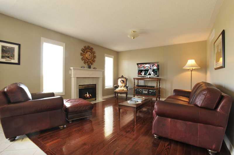 gas fireplace, hardwood flooring