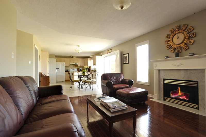 Open concept great room to kitchen, walk out,