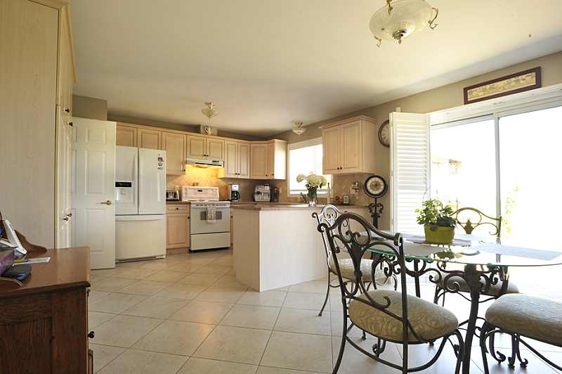 open concept kitchen, walk out to patio