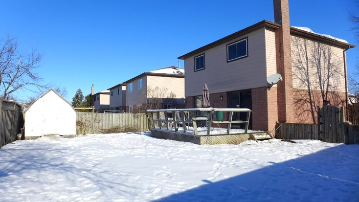 Mature Trees, yard, shed, deck