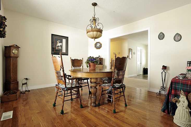 hardwood floor, dining room