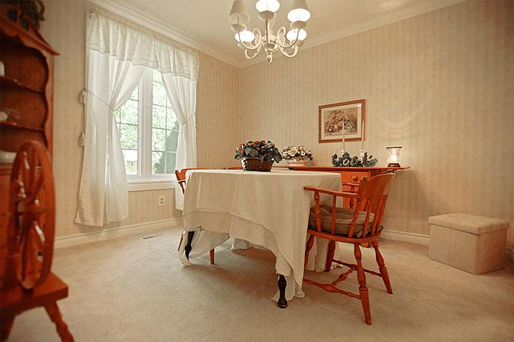 Dining Room, picture window, broadloom