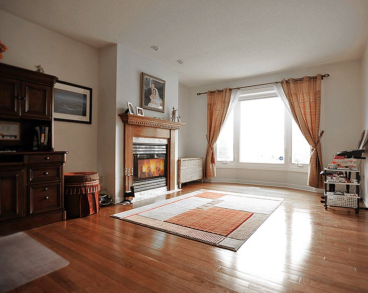 Hardwood Floors, Gas Fireplace, French Doors