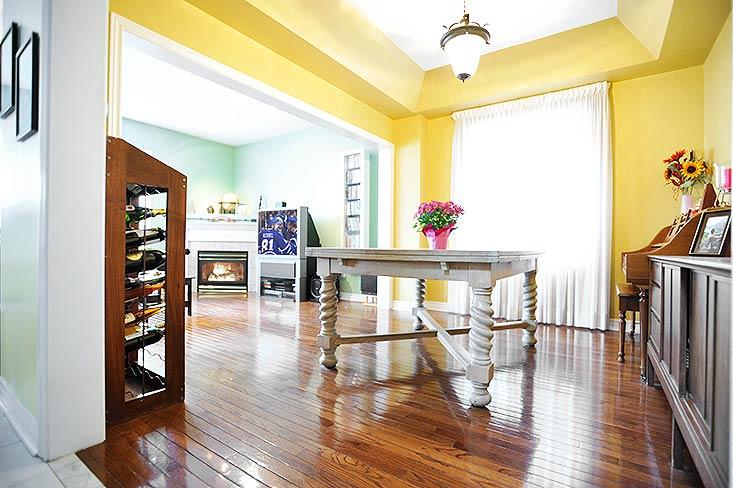 Dining room, Hardwood Floors