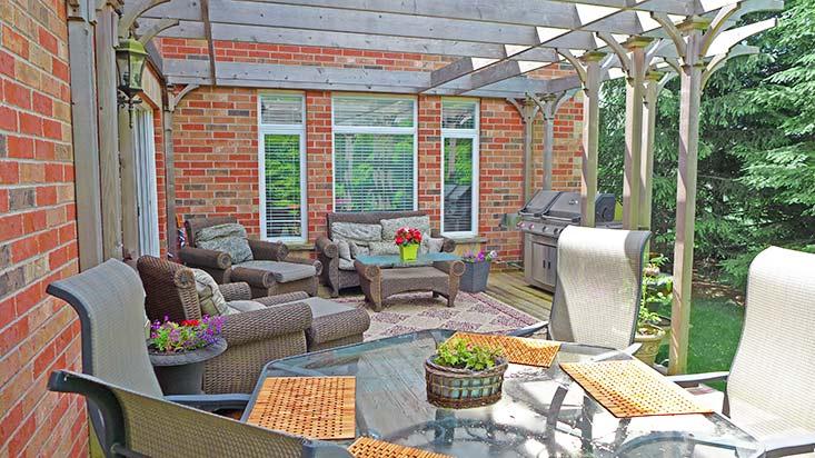 Intimate Backyard Setting, West Orangeville Subdivision