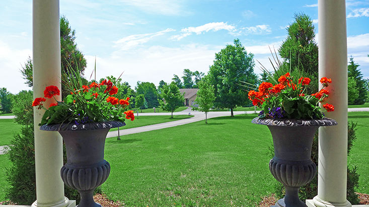Front Porch Look-Out to West, Orangeville, Subdivision