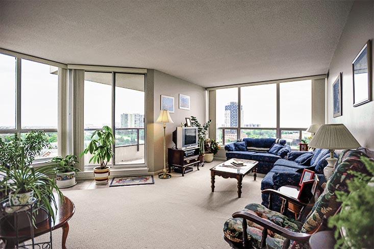 Living Room, Balcony, 10th Floor