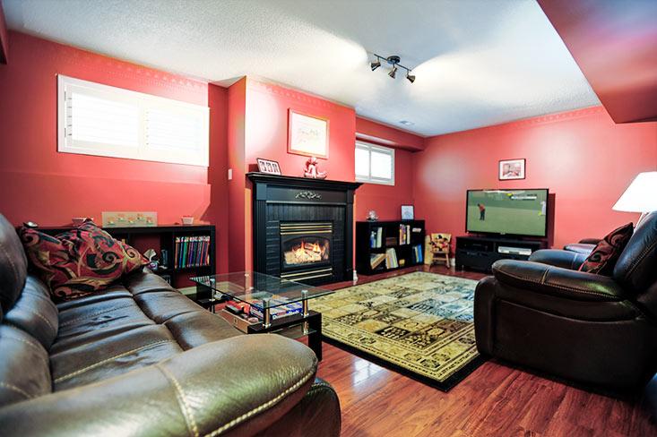 Rec room, Gas Fireplace