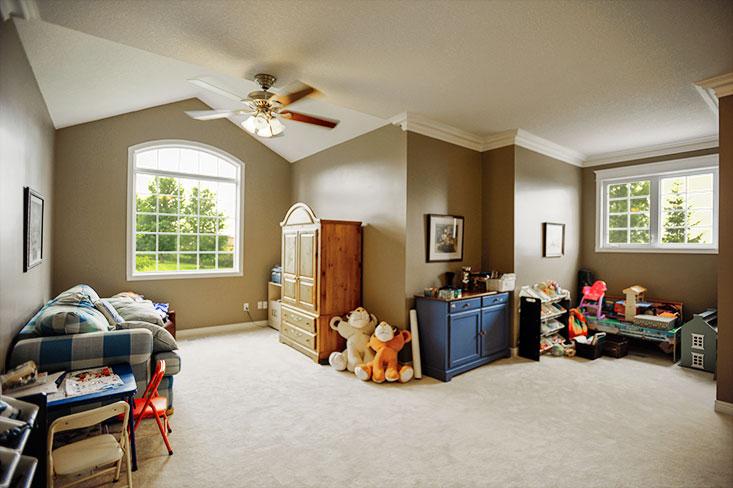 dormer windows, crown mouldings, separate staircase