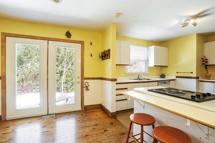 Kitchen, hardwood flooring