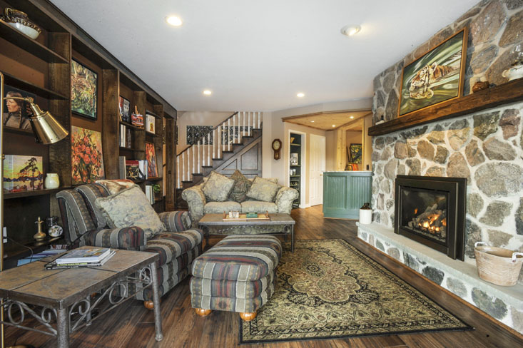 Warm, Rich, Family room