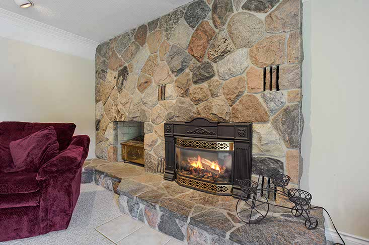 Stoned fireplace