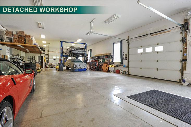 Garage, detached workshop, shop, caledon, country estate