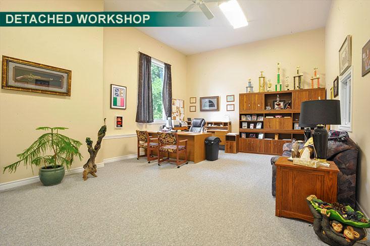 Office, detached workshop