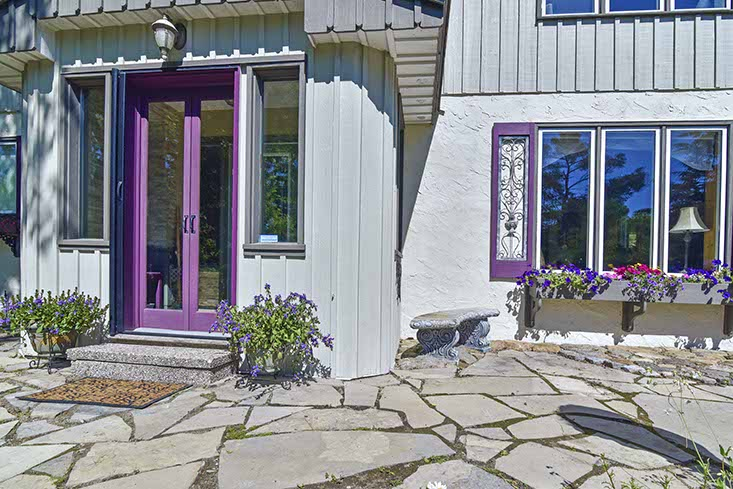 Flagstone Entry, Rustic Living, Country Retreat