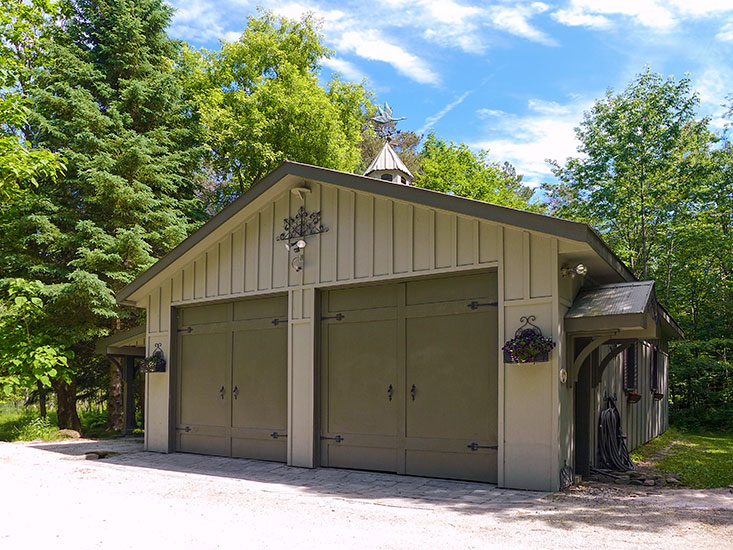 Detached Garage, 4 Car, carport, storage