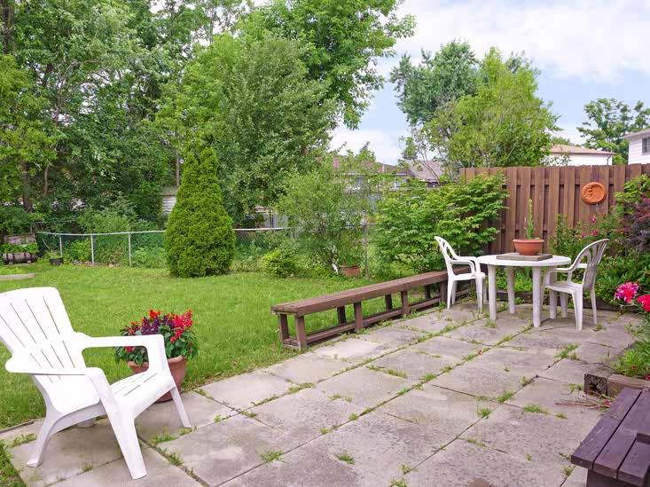 Backyard 9 Drake Blvd, Brampton, Ontario