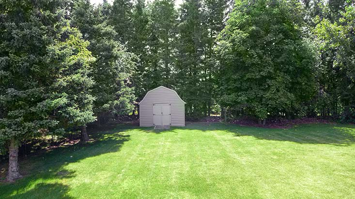 Mature Yard, Hayleyvale, Storage Shed