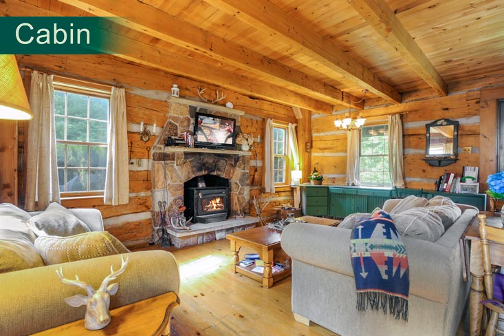 Living Room cabin, mulmur, rustic