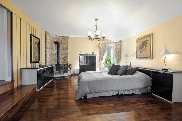 sunken master bedroom