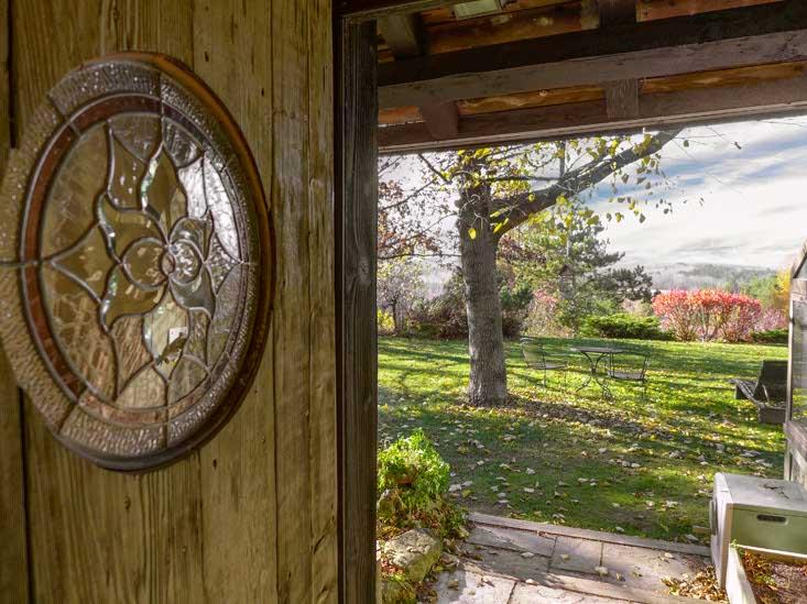 Rustic, Door, Stained Glass