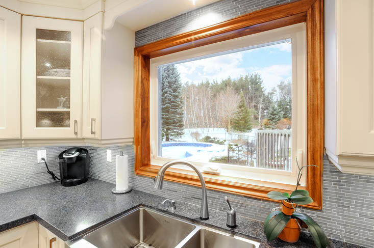 Kitchen Sink, Overlooking Backyard & Pool