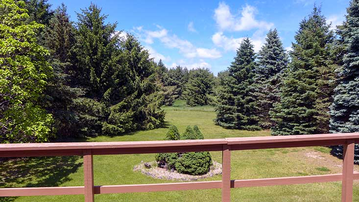 Large Decking Overlooking Acreage