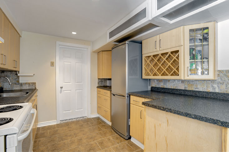 Stainless Steel Appliances in Lower Level Kitchen