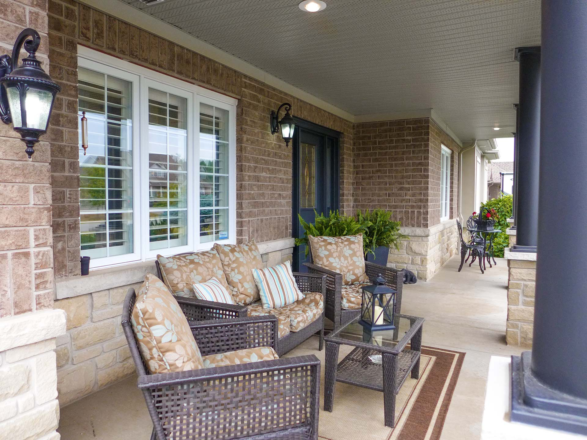 Covered Front Porch, Devonleigh Home