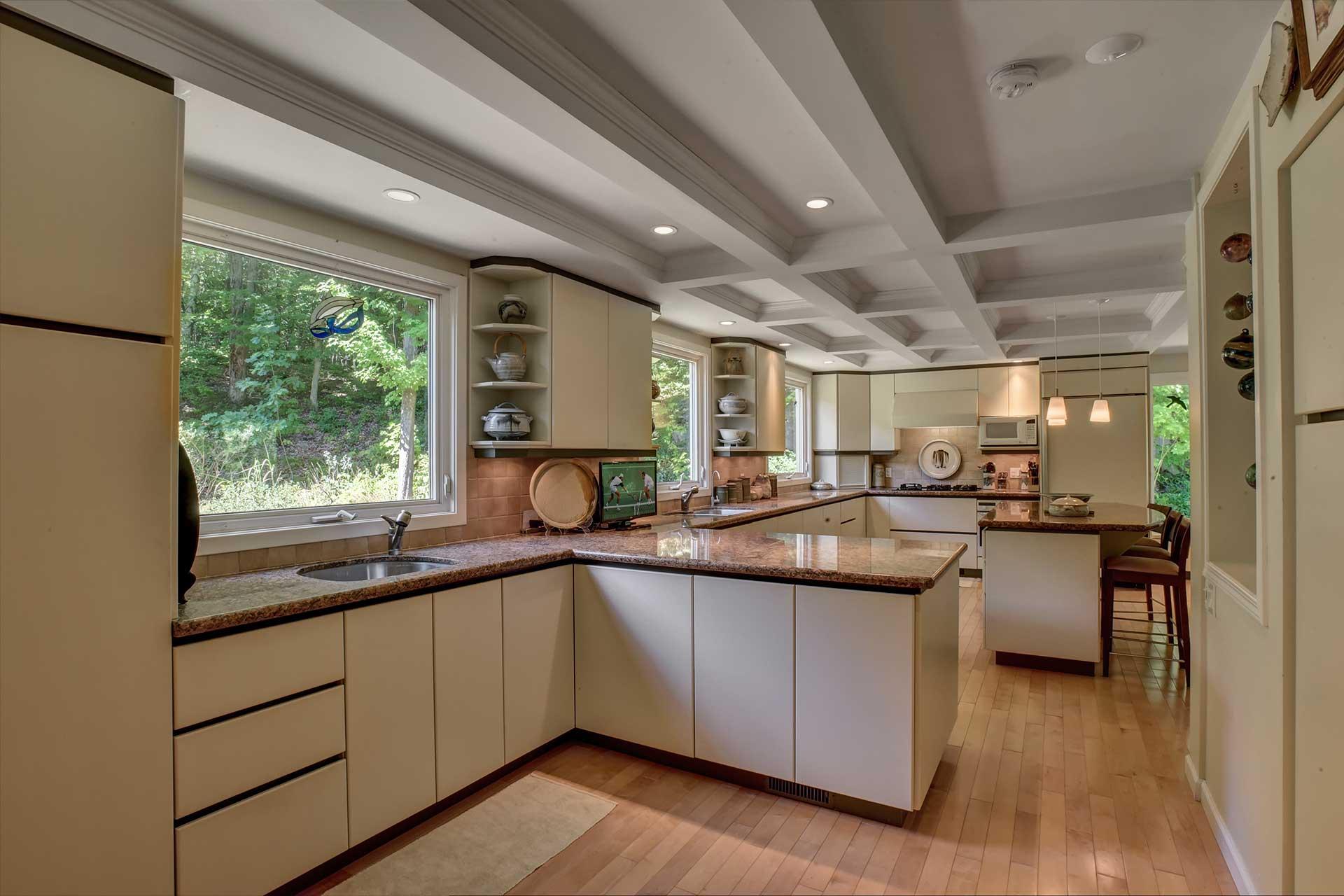 Kitchen - Pot Lights, Maple Flooring