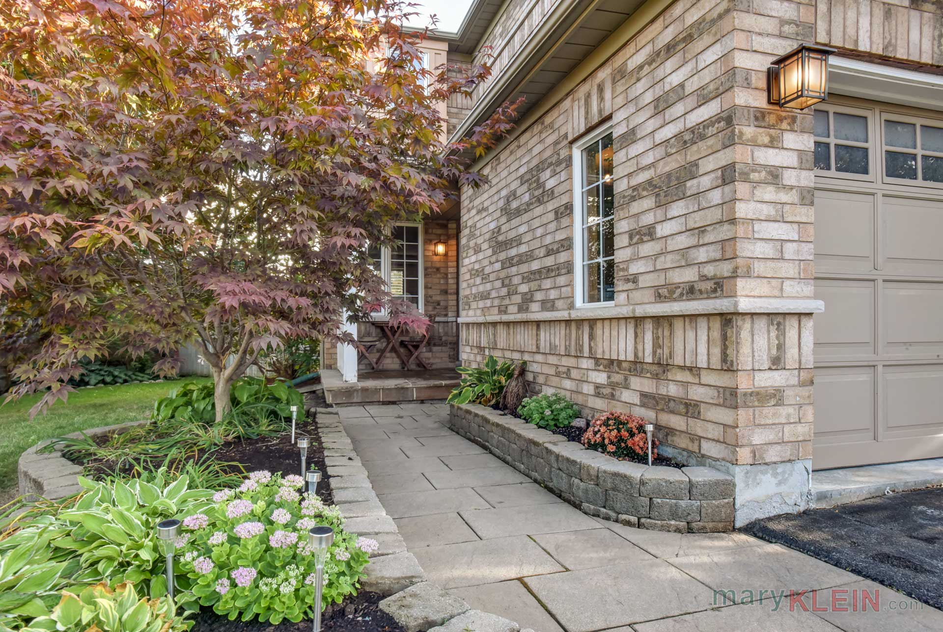 Stone walkway, front entry