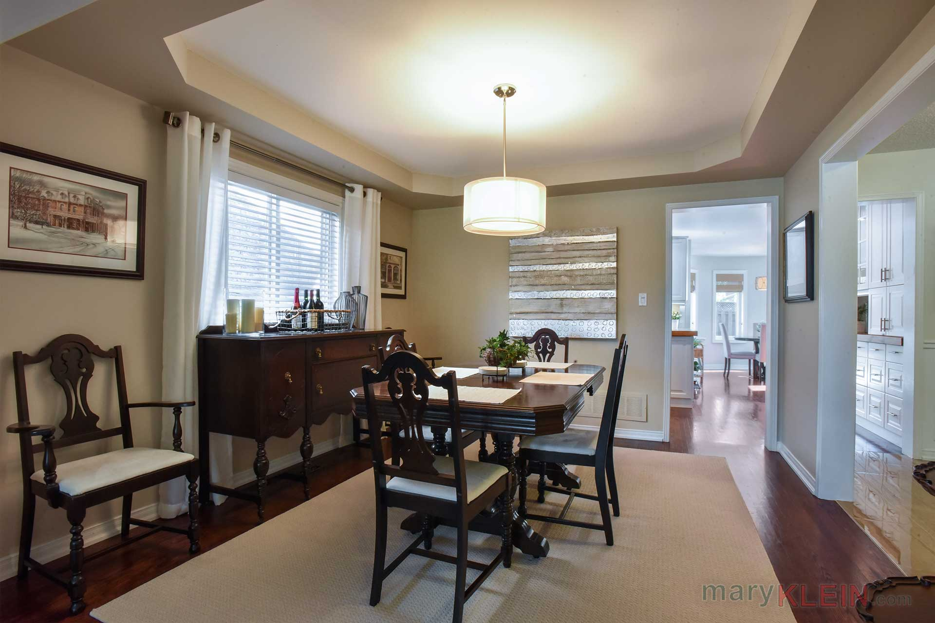 Dining Room , Coffered Ceiling