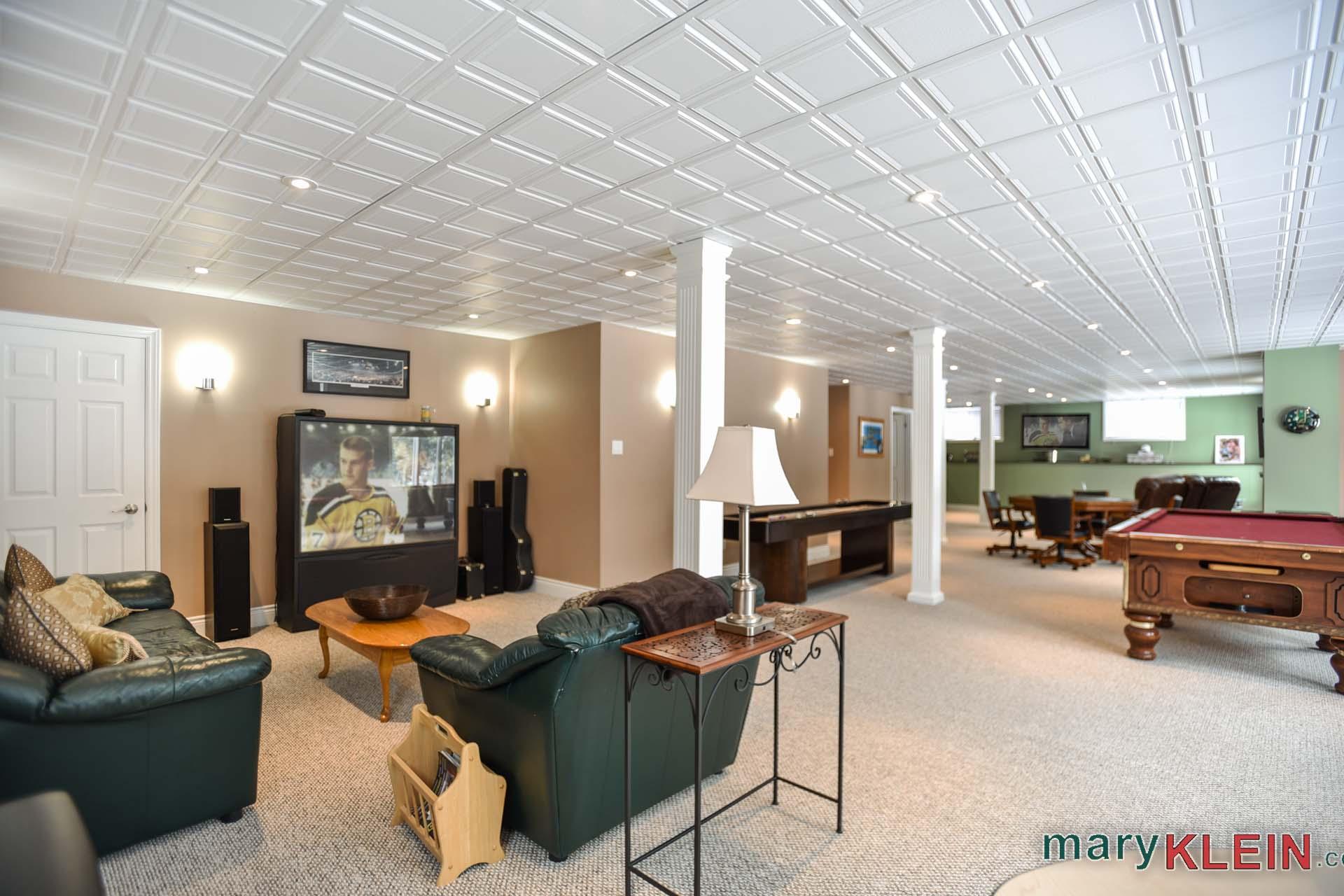 Open concept rec room