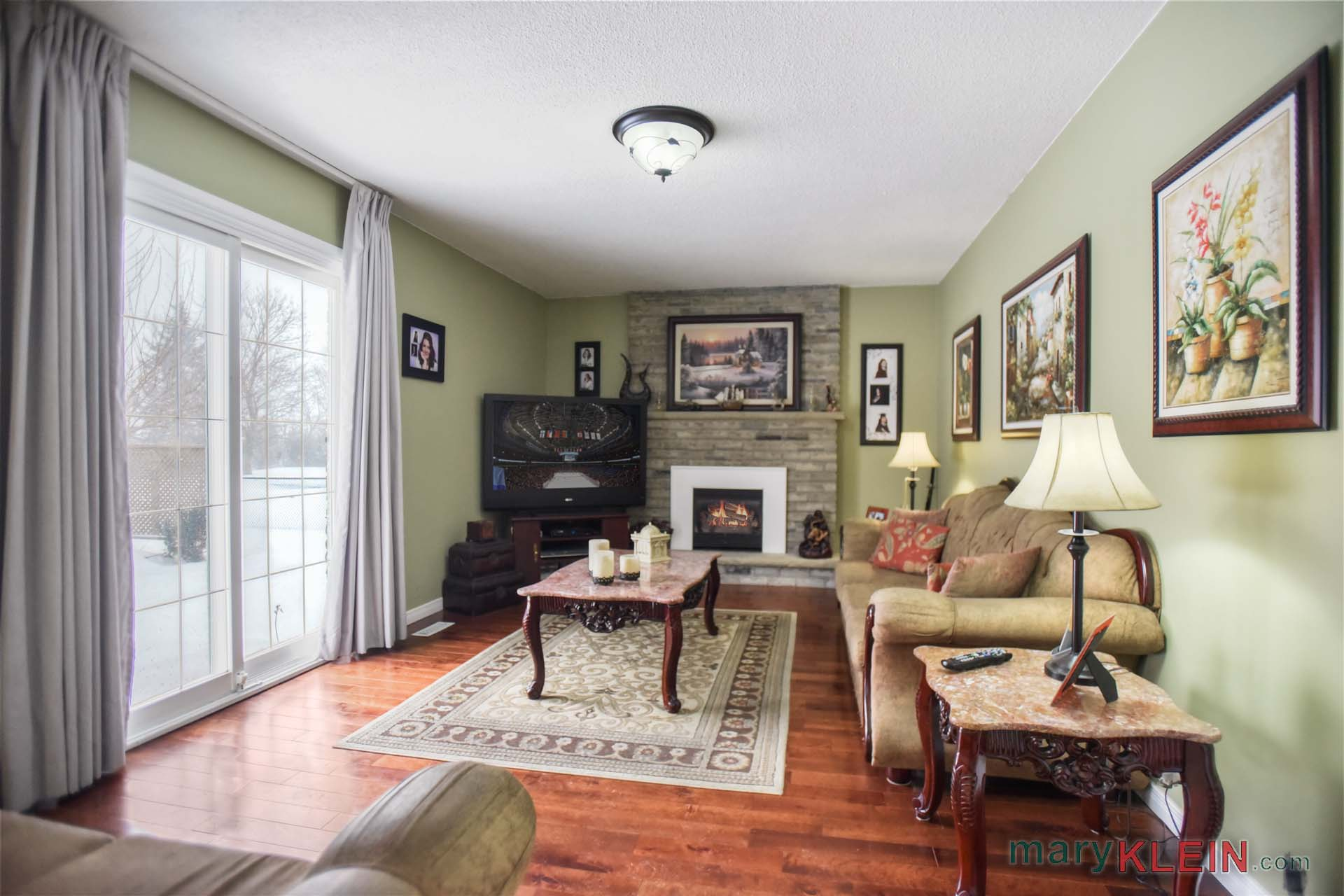 Family Room, Gas Fireplace